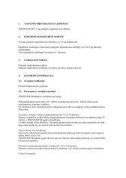 Preparato charakteristikų santrauka - Servier