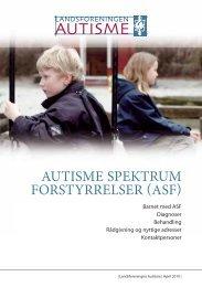autisme spektrum forstyrrelser asf - Landsforeningen Autisme