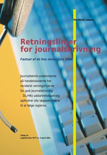 Retningslinjer for journalskrivning - Hk