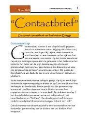 Contactbrief nummer 61 - Diaken