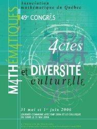 Diapositive 1 - Département de mathématiques et de statistique ...