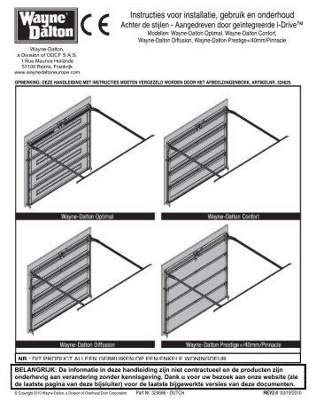 Instructies voor installatie, gebruik en onderhoud - Wayne Dalton