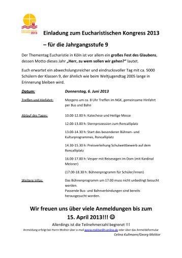 Anmeldeformular - Norbert Gymnasium Knechtsteden