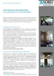 Hotel Novotel Lyon confluences : de la ... - Norba Menuiserie