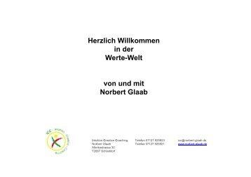 Werte-Welt - Norbert Glaab Intuitive Creative Coaching