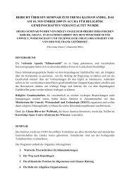 bericht über ein seminar zum thema klimawandel, das am 18 ...