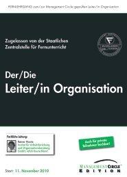 Fernlehrgang: Der/Die Leiter/in Organisation ... - Sylvia Nickel