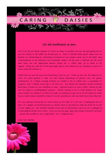 Newsletter 3 of 2012 - Caring Daisies