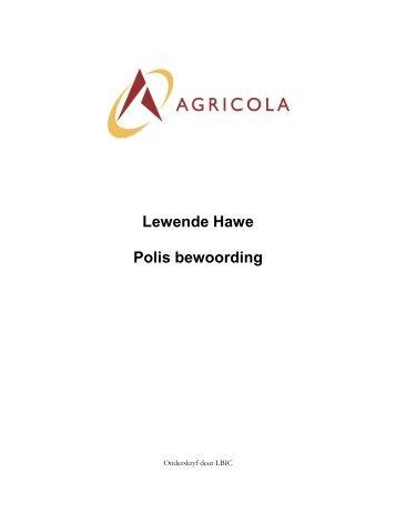 Lewende Hawe Polis Bewoording (pdf)