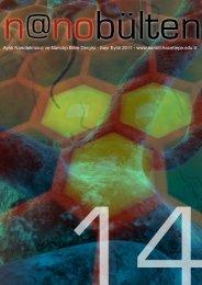 Sayı Eylül 2011 - Hacettepe Üniversitesi Nanoteknoloji ve Nanotıp ...