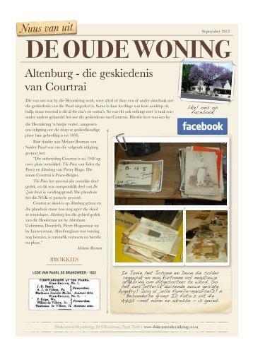 2012-09 Heemkring Newsletter - Drakenstein Heemkring