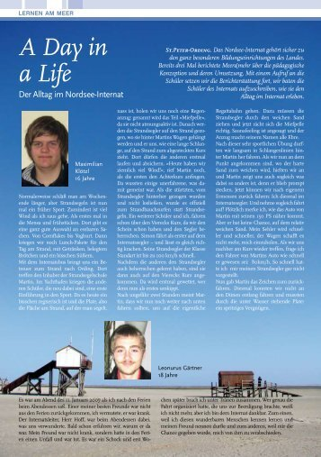A Day in a Life - Nordsee Internat