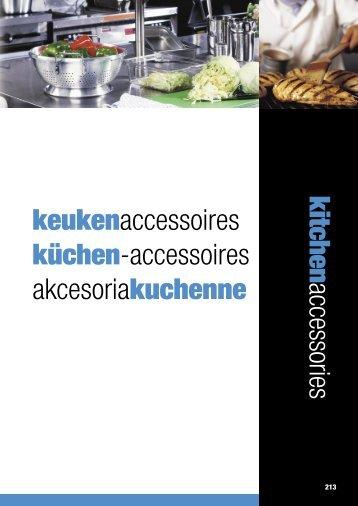 kitchen accessories keukenaccessoires küchen ... - Nicolai GmbH