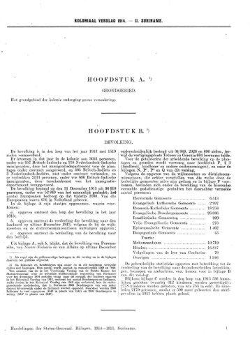 Koloniaal Verslag van 1914 - Koninklijke Bibliotheek