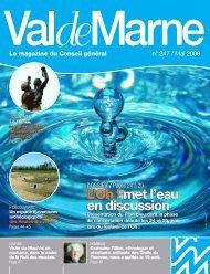 met l'eau en discussion - Conseil général du Val-de-Marne