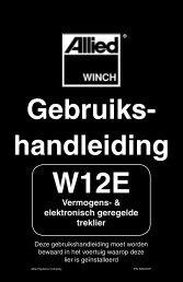 Gebruiks- handleiding - Allied Systems Company