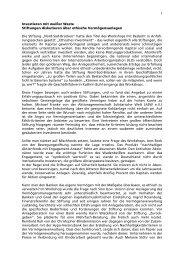 Ethisches Investment - Stiftung Nord-Süd-Brücken