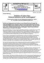 Pressemitteilung - Nord Süd Forum München eV