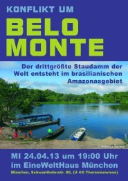 Konflikt um BELO MONTE - Casa do Brasil eV Munique/Muenchen