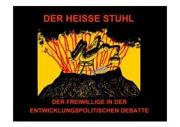 Der heiße Stuhl - Nord Süd Forum München eV