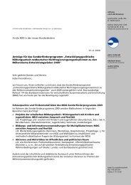 MDG-Sonderförderprogramm 2009 - Stiftung Nord-Süd-Brücken
