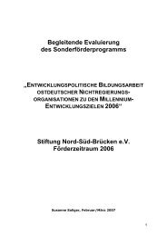 MDG-Evaluierung 2006 - Stiftung Nord-Süd-Brücken