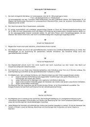 Satzung der TUS Niederneisen §1 1.) Der beim Amtsgericht ...