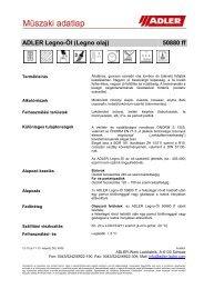 ADLER Legno-Öl (Legno olaj) 50880 ff - ADLER - Lacke