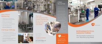 GSK Biopharmaceutical Manufacturing brochure