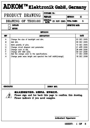 TB2010S Model (1) - ADKOM Elektronik Gmbh