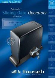 Sliding Gate Operators Sliding Gate Operators - Nothnagel
