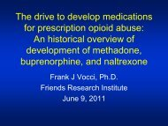The drive to develop medications for prescription opioid ... - Thci.org