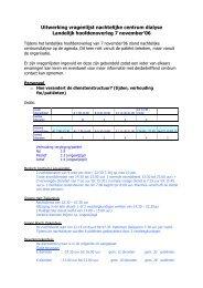 Uitwerking vragenlijst nachtelijk Centrumdialyse