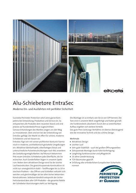 Alu-Schiebetore EntraSec - nowotnik-metall.de