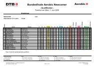 Bundesfinale Aerobic Newcomer - NTB
