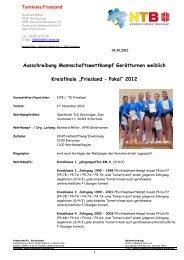 Vorschlag Ausschreibung Pokalturnen 2012 1 - NTB