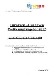 Turnkreis –Cuxhaven Wettkampfangebot 2012 - NTB