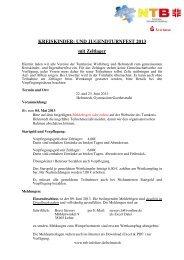 KREISKINDER- UND JUGENDTURNFEST 2013 mit Zeltlager - NTB