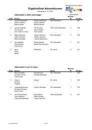 Ergebnisliste Adventsturnen - NTB