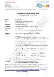 Niedersachsen-Cup Dance 2010 - NTB