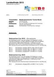 2013 NTB Lf KM III, Niedersachsen-Cup Ausschreibung