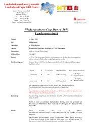 Niedersachsen-Cup Dance 2013 Landesentscheid - NTB