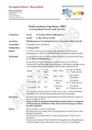 Vorentscheid Nord des Niedersachsen-Cup Dance 2013 - NTB