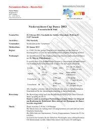 Ausschreibung Südentscheid 2013 - NTB