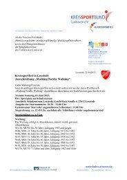 Walkingwettbewerb anlässlich des Kreissportfestes 2013 in ... - NTB