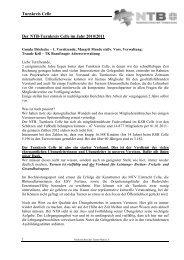 Bericht der Turnkreisbeauftragten für Trampolinturnen - NTB