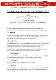 "Landesmeisterschaft ""Dance-Cup"" 2013 - NTB"