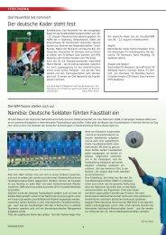 Namibia: Deutsche Soldaten führten Faustball ein Der ... - NTB