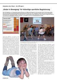 """""""Kinder in Bewegung"""" für frühzeitige sportliche Begeisterung - NTB"""