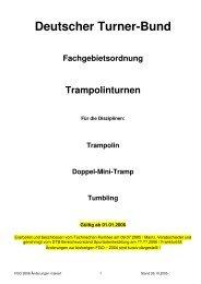 Deutscher Turner-Bund Fachgebietsordnung Trampolinturnen - NTB